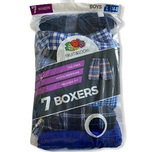 Fruit of the loom 7 pack plaid boxers boys